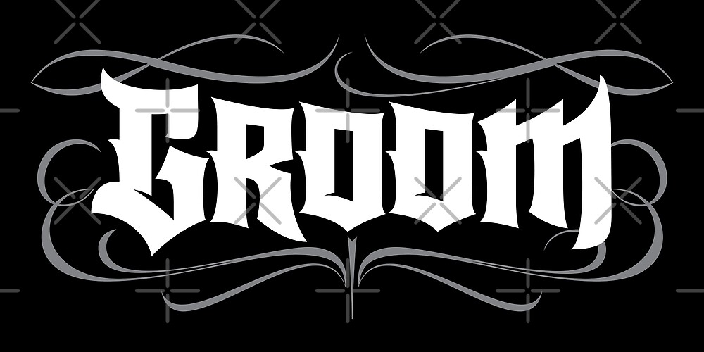 Gothic Groom Lettering - Grunge Tattoo Goth Wedding Rehearsal Dinner by 26-Characters