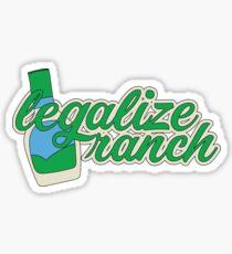 Legalize Ranch Cursive Sticker
