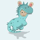 Rabbitsaurus by Prettyinpinks