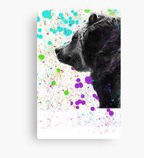 Bear in a Snowstorm 2 Canvas Print