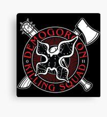 Demogorgon Killing Squad Canvas Print