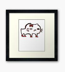kitty on drugs Framed Print