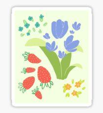 springy blossoms Sticker