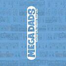 Mega Dads Logo on Blue by Adam Leonhardt