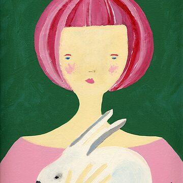 Girl with bunny by tambatoys