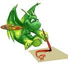 Lil Dragon Painting by piyastudios