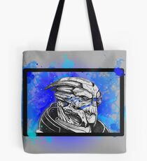 Garrus Vakarian: Mass Effect (Blue) Tote Bag