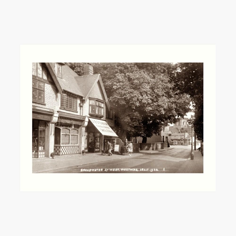 Ref: 41 - Broadwater Street West, Broadwater, Worthing, West Sussex. Art Print