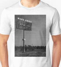 Mars Argo vintage deserted billboard design T-Shirt