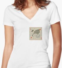 Dragon of Hearts  Women's Fitted V-Neck T-Shirt