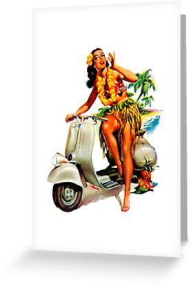 Scooter Girl Aloha by Creamy-Hamilton