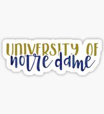 Notre Dame - Style 1 Sticker