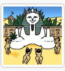ripndip pyramid cat Sticker