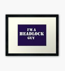 Headlock Guy Framed Print