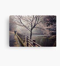 Strolling in the Rain Canvas Print