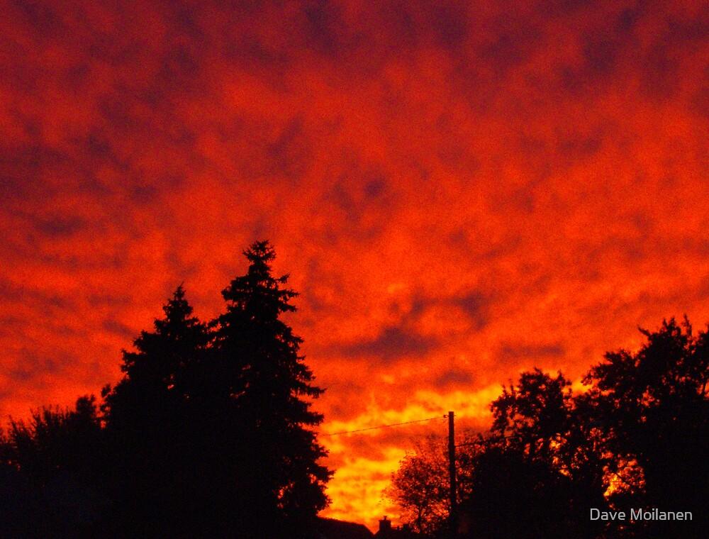 Center Line Sunset by Dave Moilanen