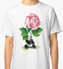 The Rose and The Panda Classic T-Shirt