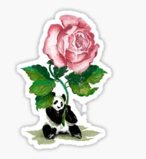 The Rose and The Panda Sticker
