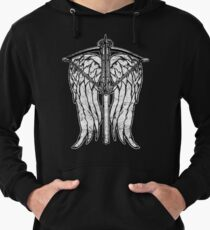 Angel Wings and Crossbow (Dirty) Lightweight Hoodie