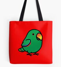 Chubby Male Eclectus Parrot Tote Bag