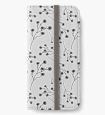 Baby's Breath Flower Pattern - White iPhone Wallet/Case/Skin