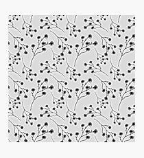 Baby's Breath Flower Pattern - White Photographic Print