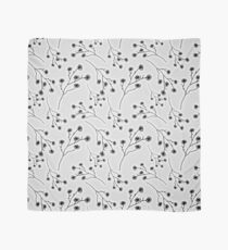 Baby's Breath Flower Pattern - White Scarf