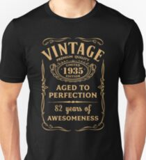 Golden Vintage Limited 1935 Edition - 82nd Birthday Gift T-Shirt