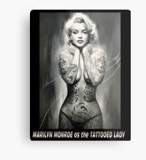 MARILYN MONROE: als TATTOOED LADY Print Metalldruck