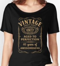 Golden Vintage Limited 1977 Edition - 40th Birthday Gift Women's Relaxed Fit T-Shirt