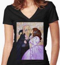 As the World Falls Down Ver. 2 Women's Fitted V-Neck T-Shirt