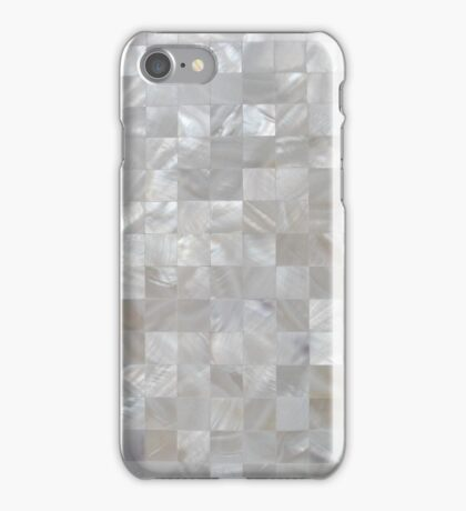 Mother Of Pearl White Square Pattern iPhone Case/Skin