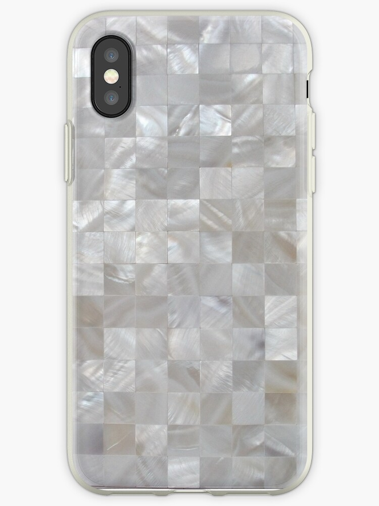 Mother Of Pearl White Square Pattern by SOVART69