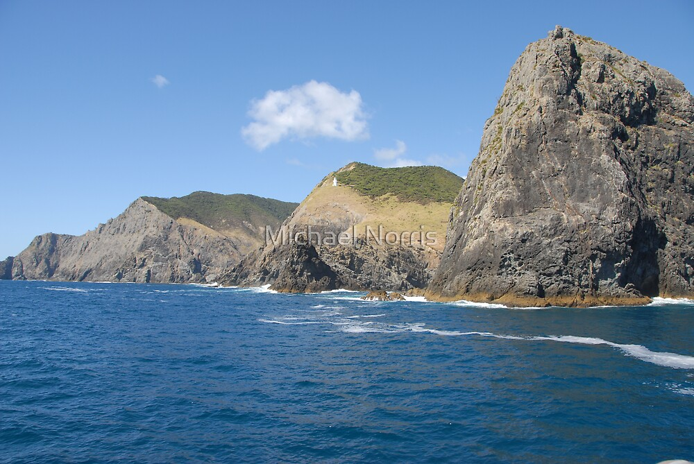 Cape Brett and Percy Island at Bay of Islands - New Zealand by Michael Norris