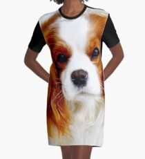Cavalier King Charles Spaniel  Graphic T-Shirt Dress