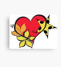Love flower star colourful Canvas Print