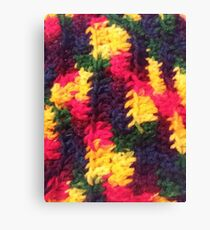 Rainbow Knit Canvas Print