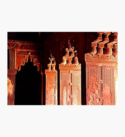 Agra Fort Architectural Detail Photographic Print