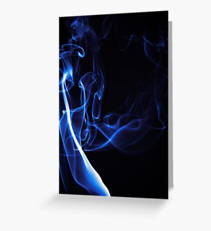 Blue Smoke Greeting Card