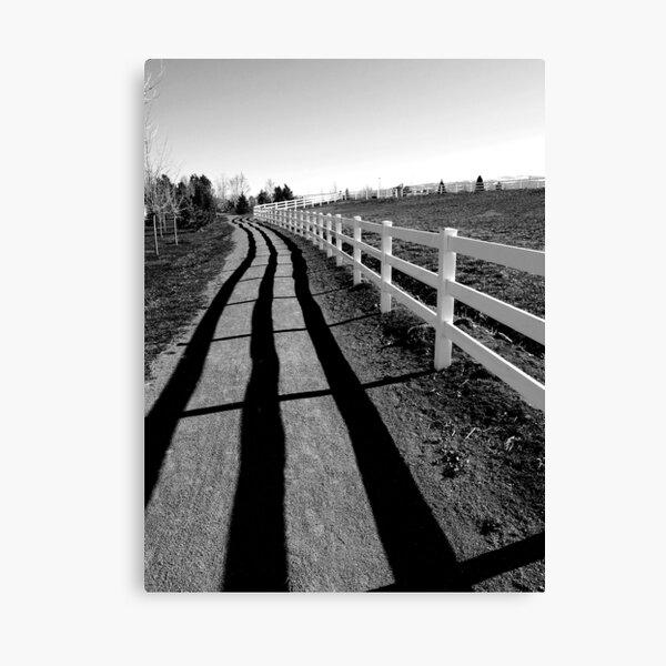 Fence Shadow Canvas Print