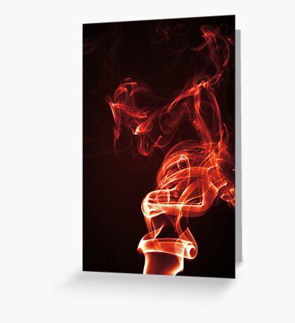 Red Smoke Greeting Card