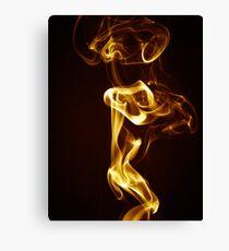 Golden Smoke Canvas Print