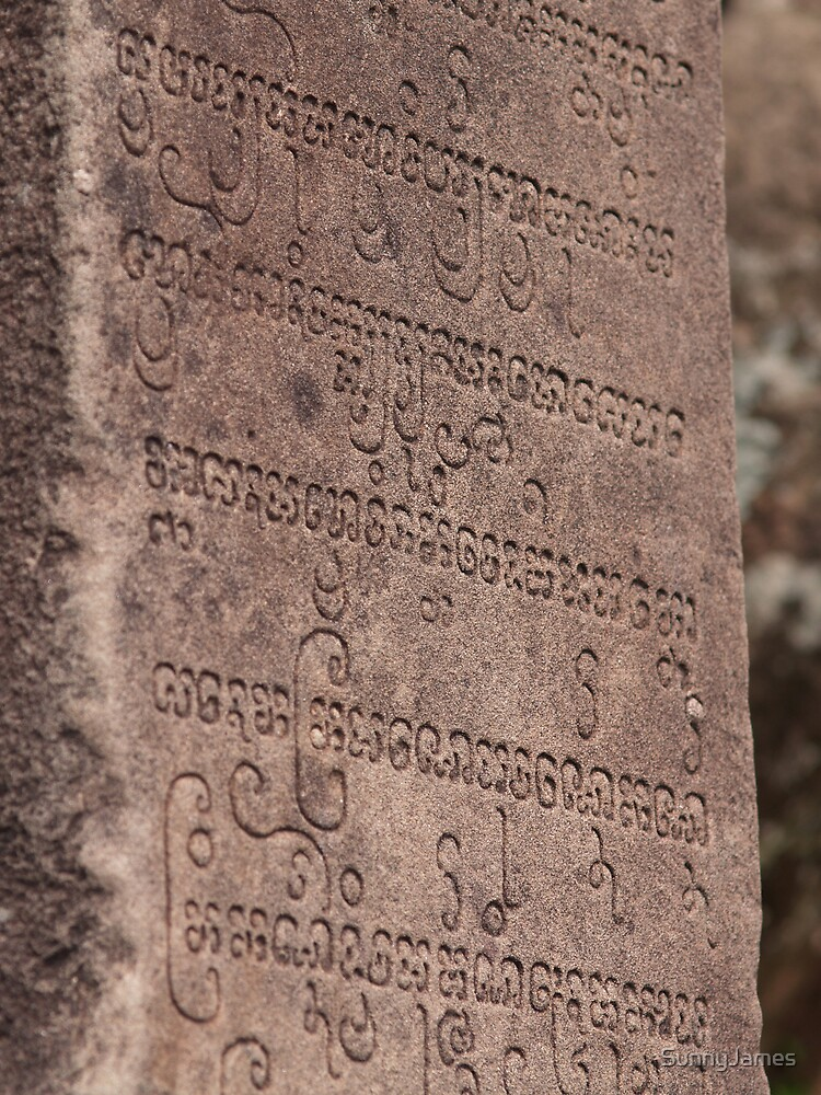 Ancient writing of the Chăm Pa  by SunnyJames