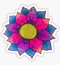 Lotus flower color bomb Sticker