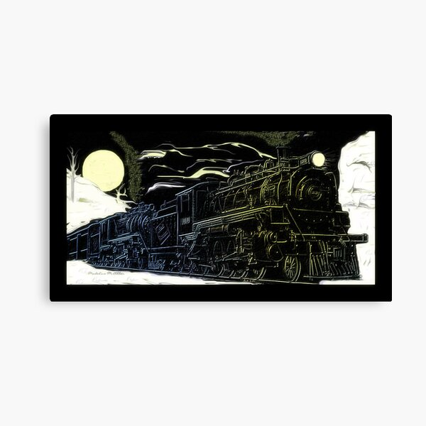 The Newfie Bullet in the Gaff Topsails Canvas Print