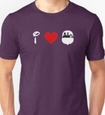 I Heart Haunted Mansion (Classic Logo) (Inverted) T-Shirt