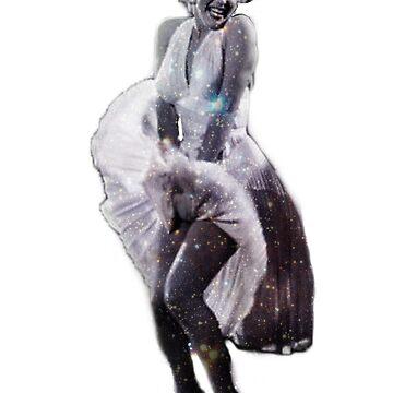 Space Marilyn Monroe by -ash-