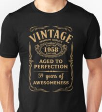 Golden Vintage Limited 1958 Edition - 59th Birthday Gift Unisex T-Shirt