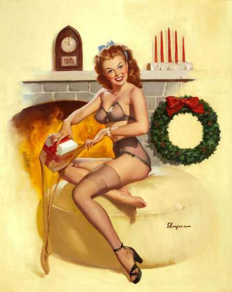 Christmas Present Gil Elvgren Pinup by RookieRomance