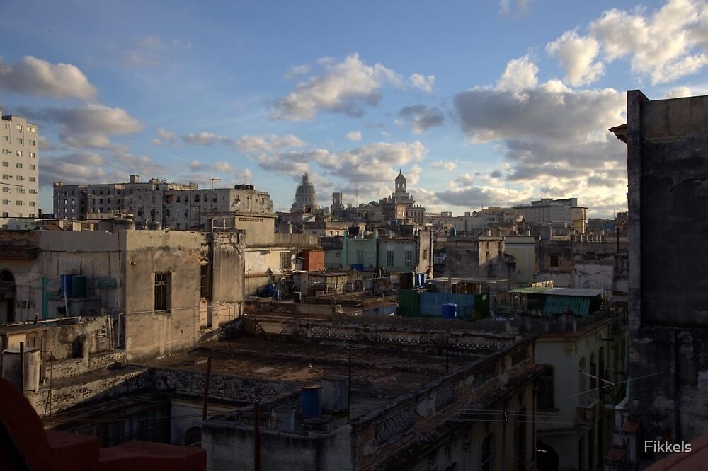 Havana rooftops by Fikkels
